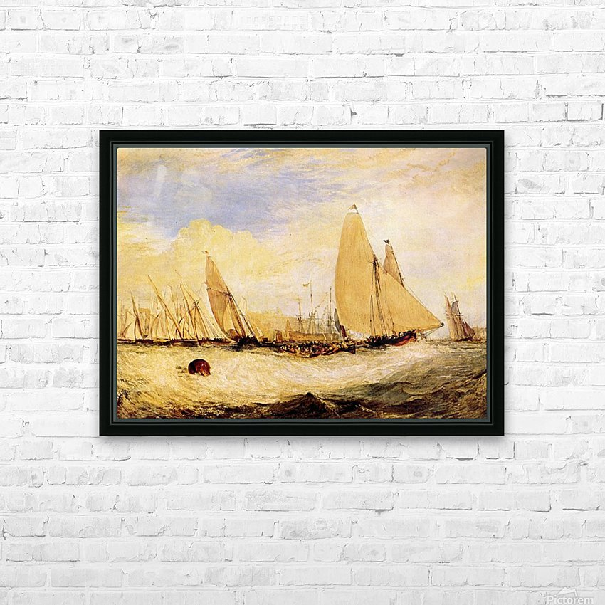 East Cowes Castle, Regatta by Joseph Mallord Turner HD Sublimation Metal print with Decorating Float Frame (BOX)