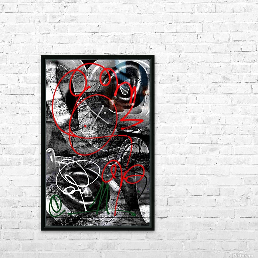 Bad Rose HD Sublimation Metal print with Decorating Float Frame (BOX)