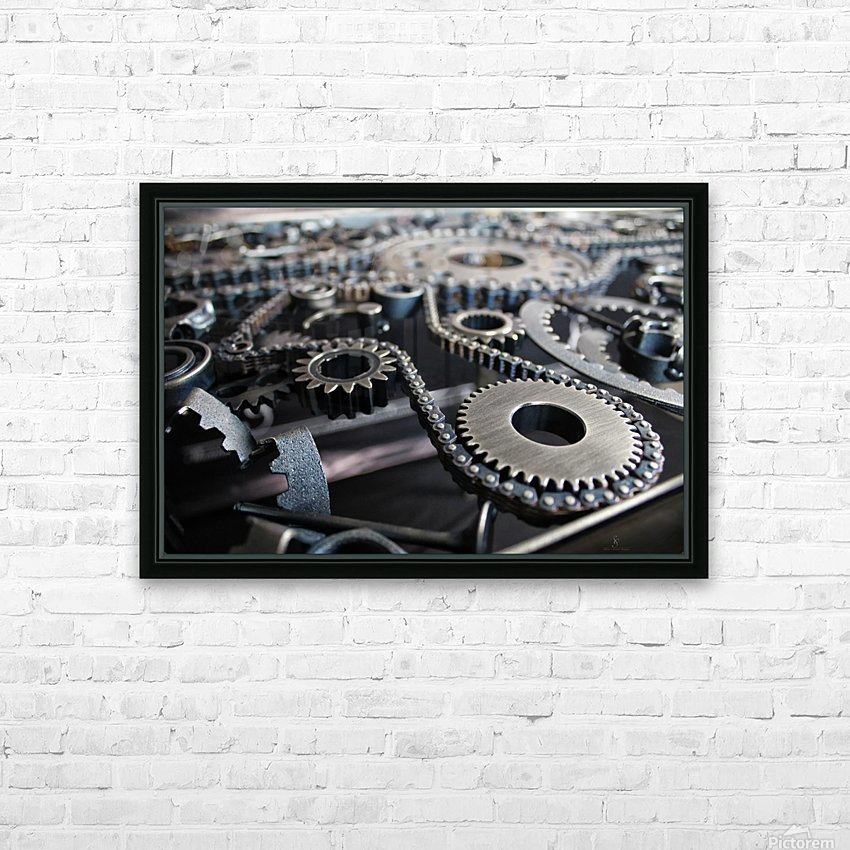 Cam chain HD Sublimation Metal print with Decorating Float Frame (BOX)