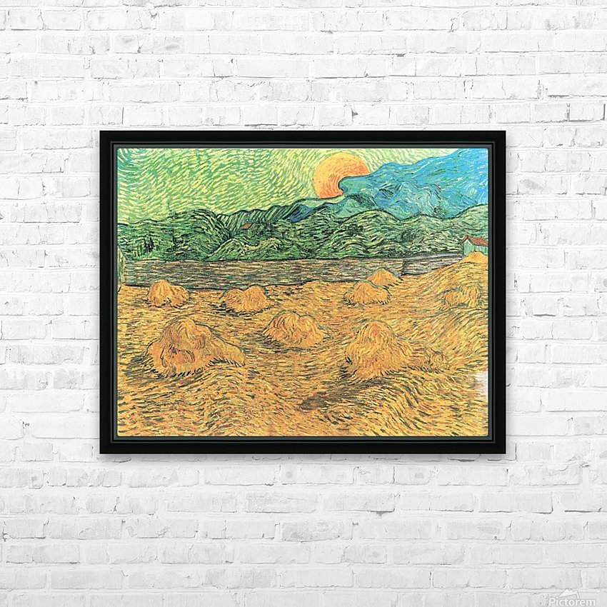 Evening landscape at moonrise by Van Gogh HD Sublimation Metal print with Decorating Float Frame (BOX)