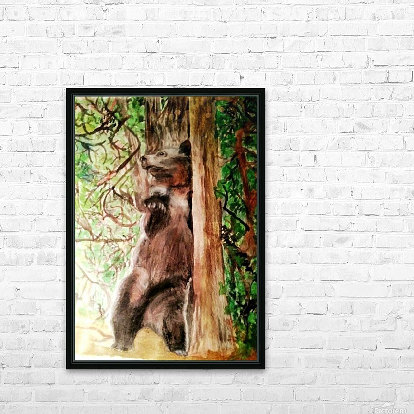 The Bear Facts HD Sublimation Metal print with Decorating Float Frame (BOX)