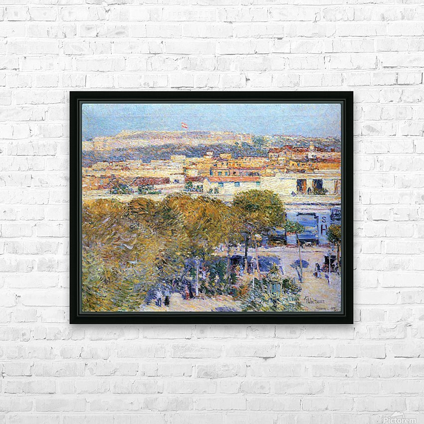 Central Place and Fort Cabanas, Havana by Hassam HD Sublimation Metal print with Decorating Float Frame (BOX)