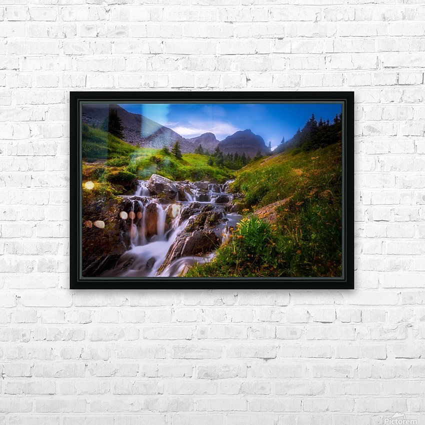 Chasing Waterfall  HD Sublimation Metal print with Decorating Float Frame (BOX)