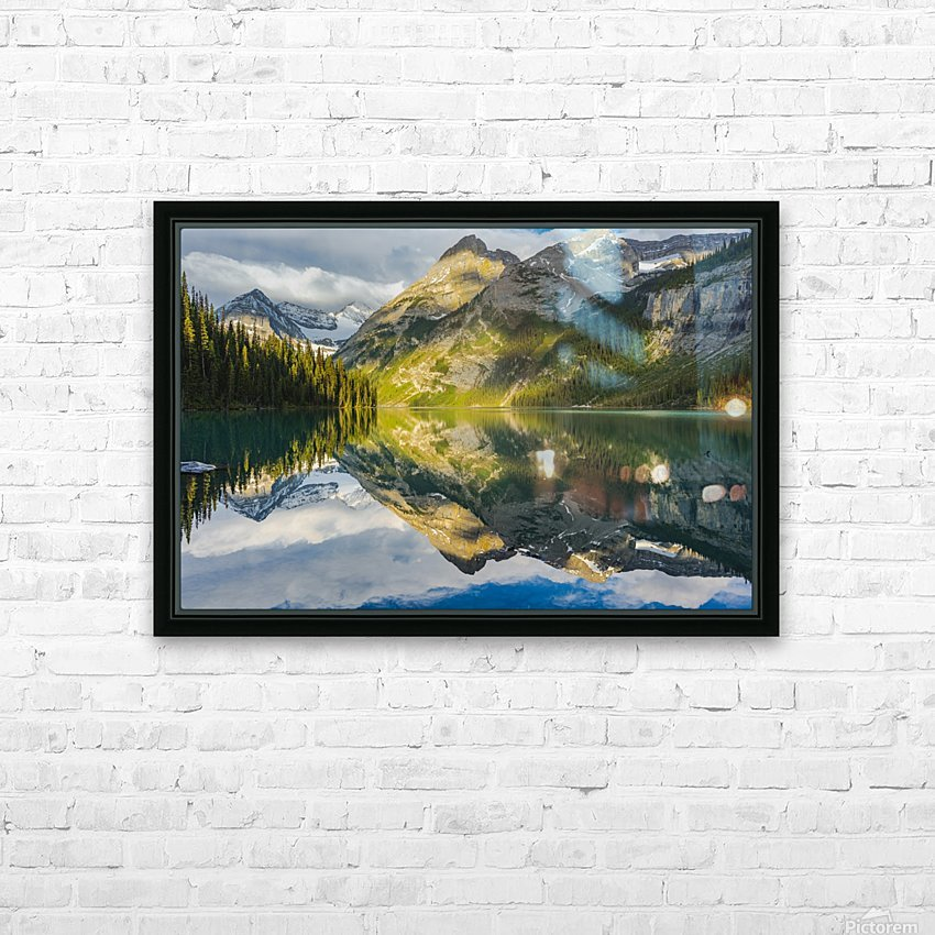 Upper elk lake  HD Sublimation Metal print with Decorating Float Frame (BOX)