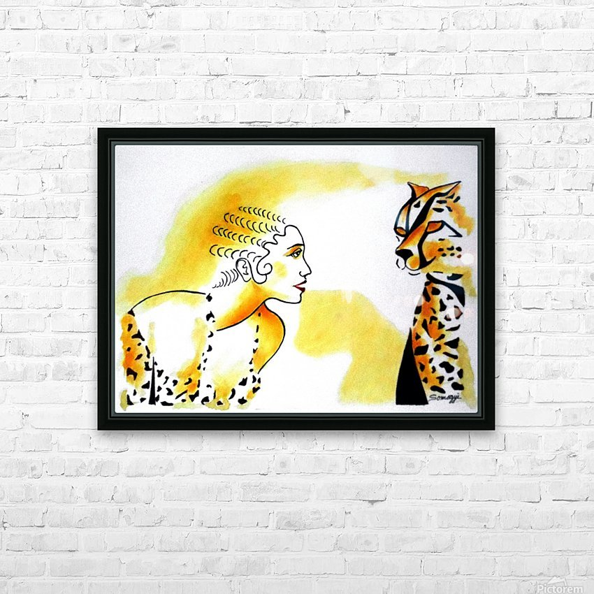 Cat Eyes HD Sublimation Metal print with Decorating Float Frame (BOX)