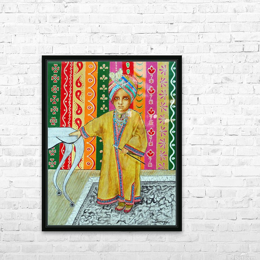 Mini Maharajah HD Sublimation Metal print with Decorating Float Frame (BOX)