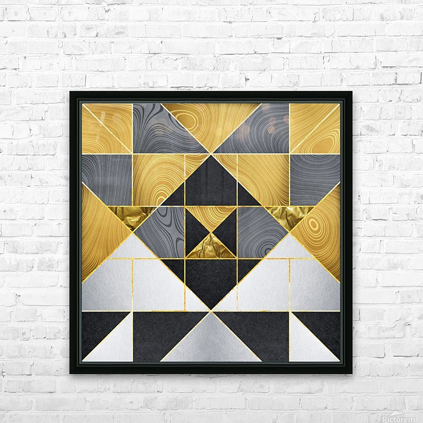 Geometric XXIV HD Sublimation Metal print with Decorating Float Frame (BOX)