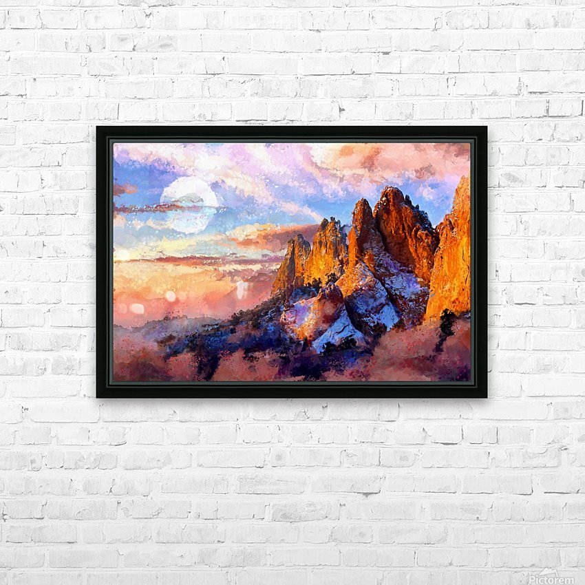 Colorado Mountains - Digital Painting III HD Sublimation Metal print with Decorating Float Frame (BOX)