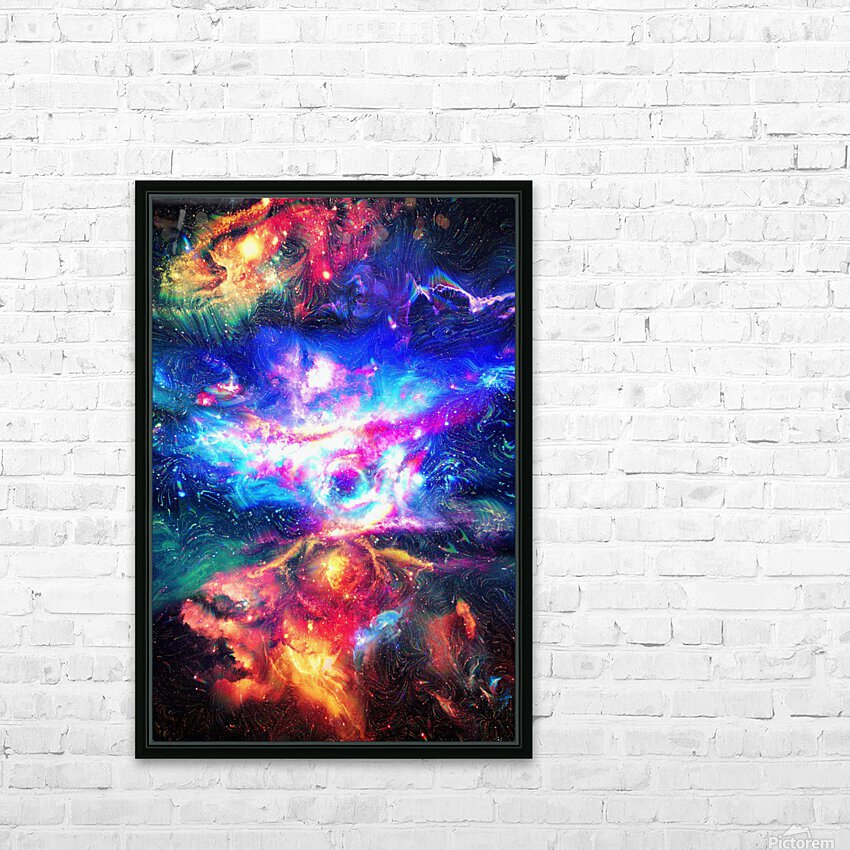 Colorful Galaxy  HD Sublimation Metal print with Decorating Float Frame (BOX)