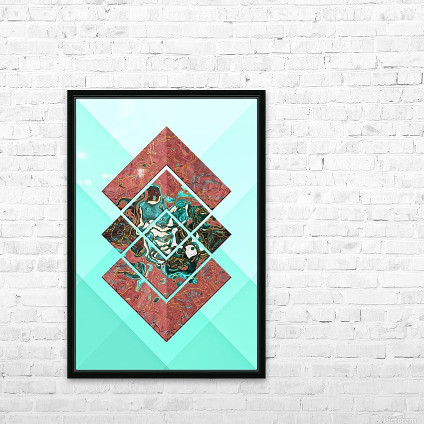 Geometric XX HD Sublimation Metal print with Decorating Float Frame (BOX)