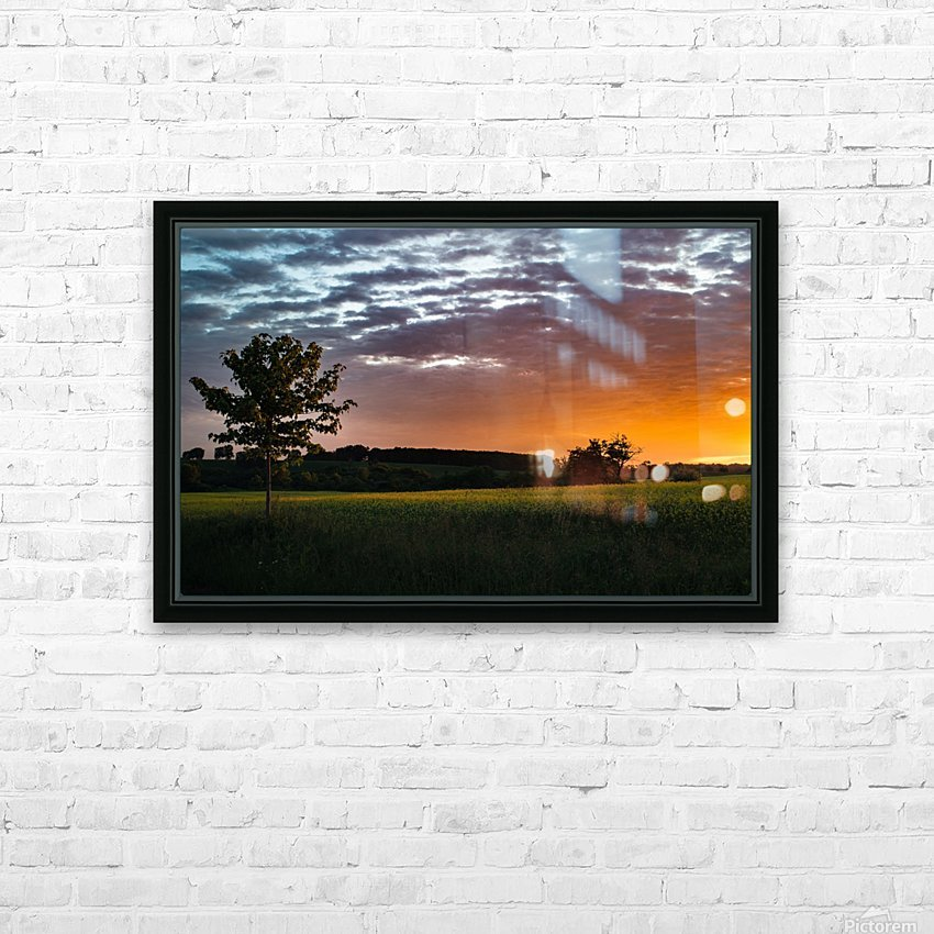 Morning Field HD Sublimation Metal print with Decorating Float Frame (BOX)