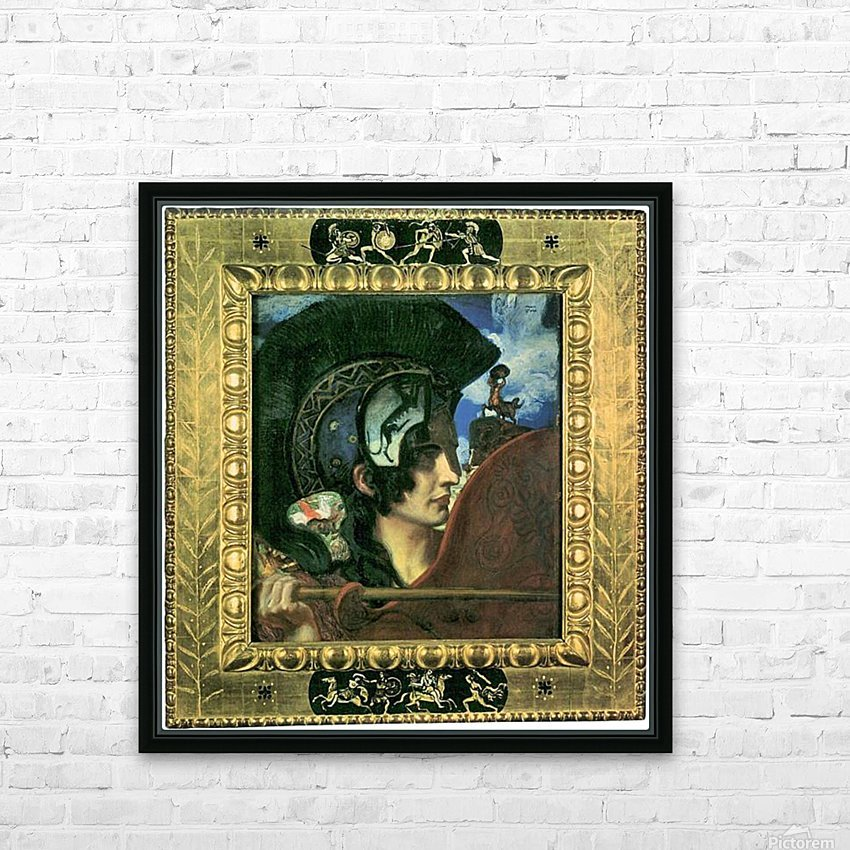Fighting amazon by Franz von Stuck HD Sublimation Metal print with Decorating Float Frame (BOX)