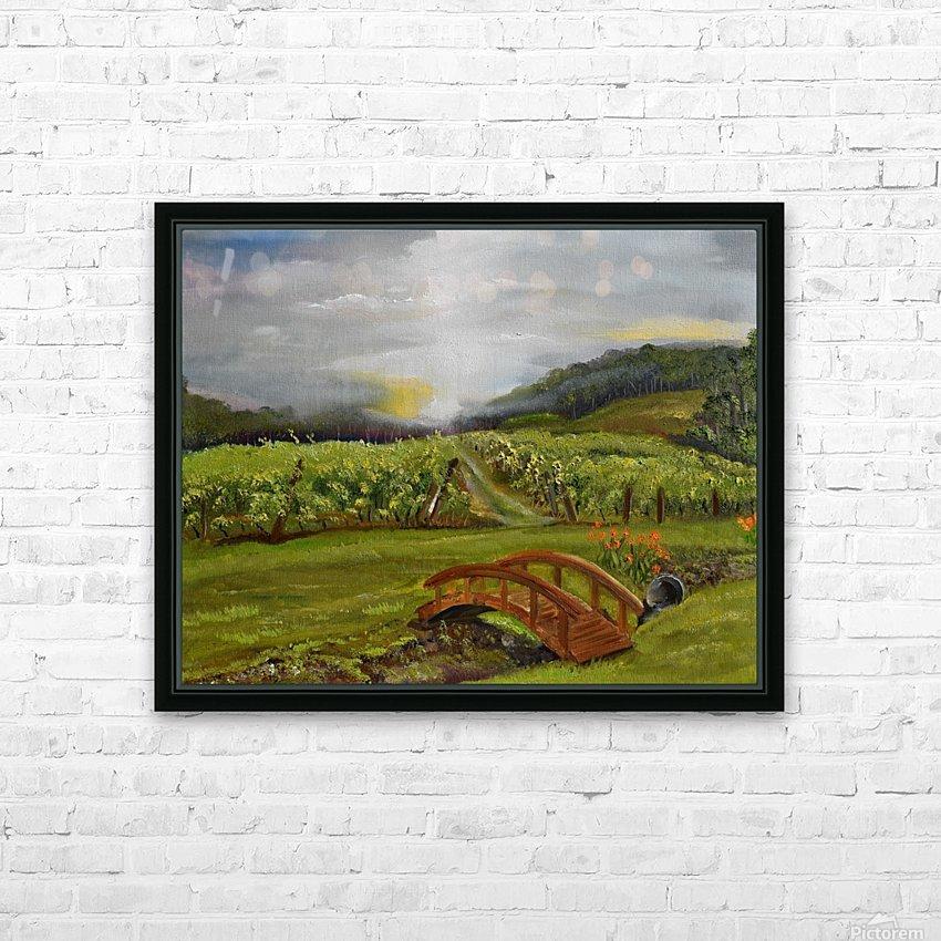 Sunshine Bridge at Cartecay Vineyard HD Sublimation Metal print with Decorating Float Frame (BOX)