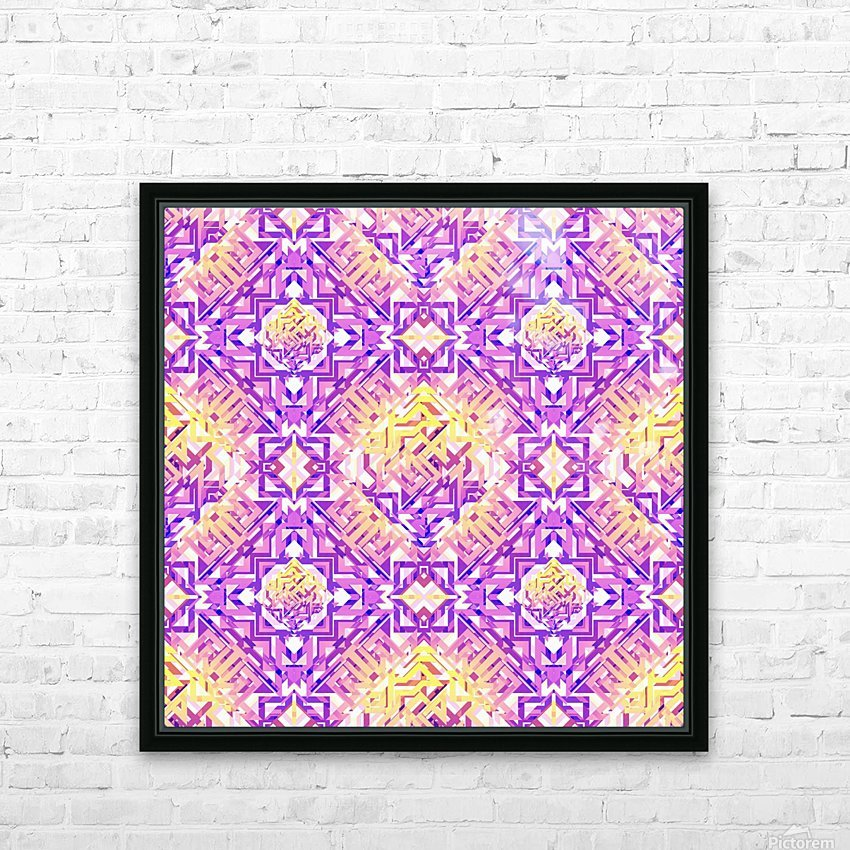 Abstract Pattern HD Sublimation Metal print with Decorating Float Frame (BOX)