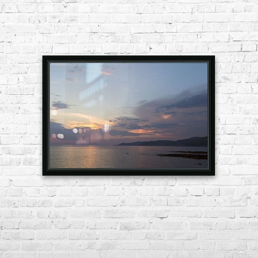 Sunset in Acciaroli HD Sublimation Metal print with Decorating Float Frame (BOX)