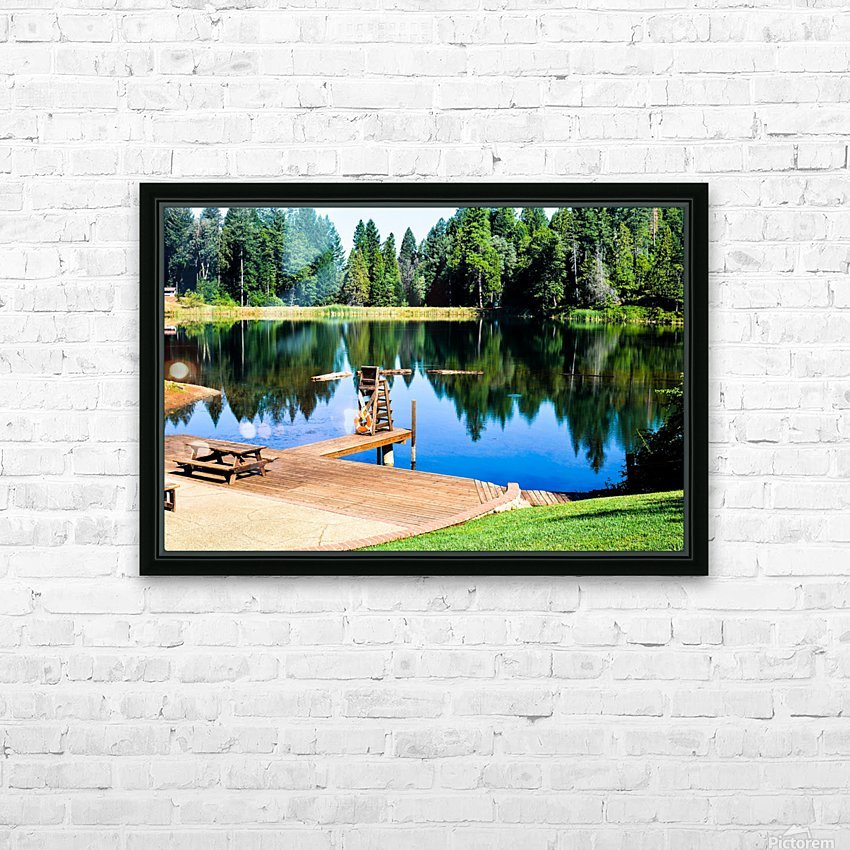 Saturated Scene HD Sublimation Metal print with Decorating Float Frame (BOX)