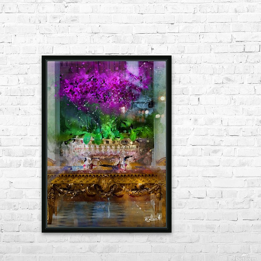 Blenheim Orchid in Silver Compote HD Sublimation Metal print with Decorating Float Frame (BOX)