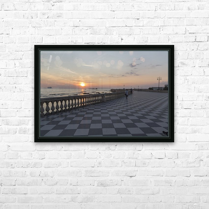 Tramonto a Livorno HD Sublimation Metal print with Decorating Float Frame (BOX)