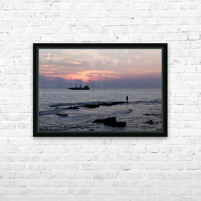 Sunset in Livorno - Piazza Mascagni HD Sublimation Metal print with Decorating Float Frame (BOX)