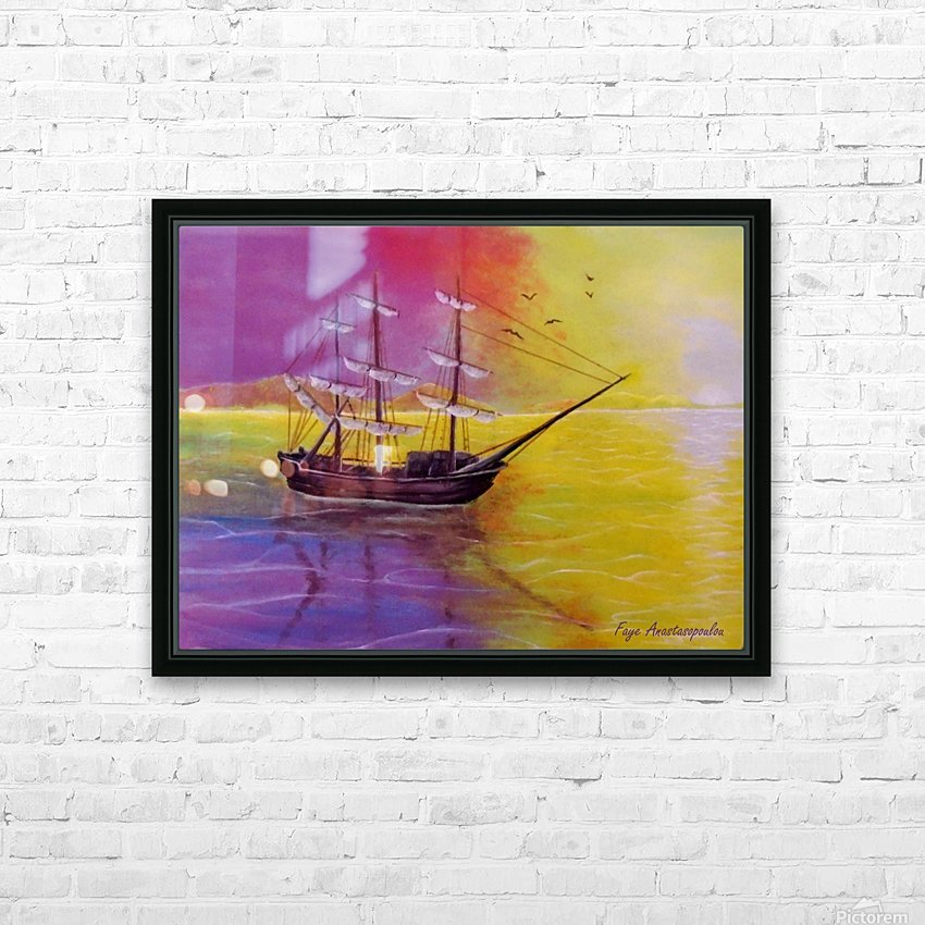 Sunset Sail HD Sublimation Metal print with Decorating Float Frame (BOX)