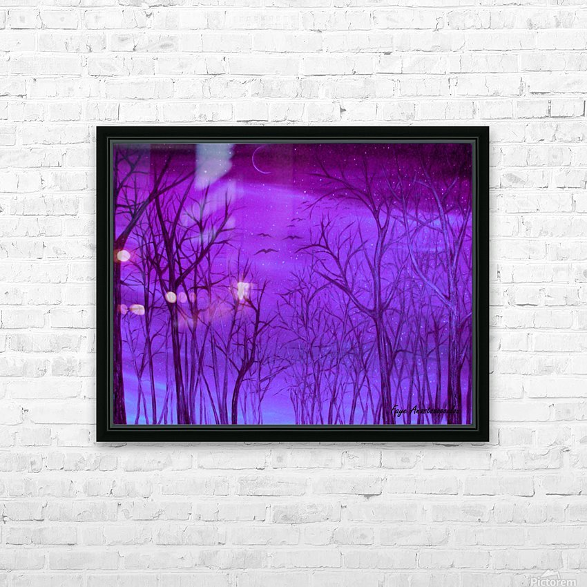 Forest Light HD Sublimation Metal print with Decorating Float Frame (BOX)