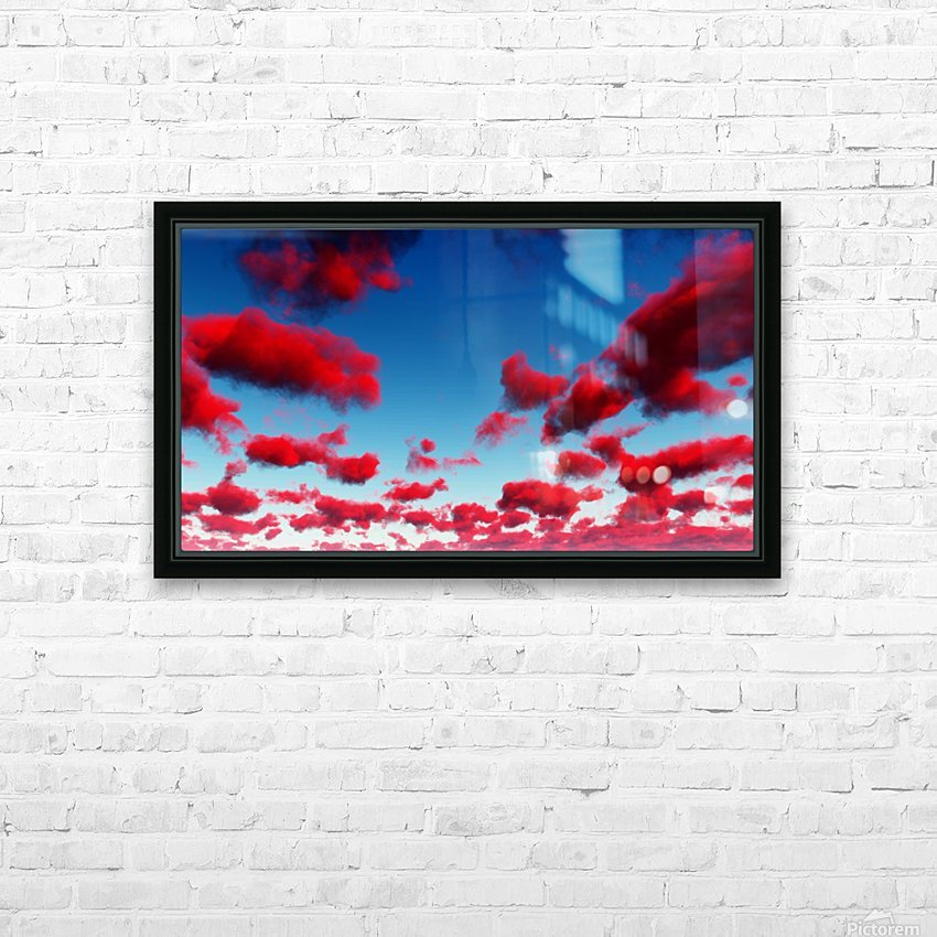 Deep Red Clouds HD Sublimation Metal print with Decorating Float Frame (BOX)