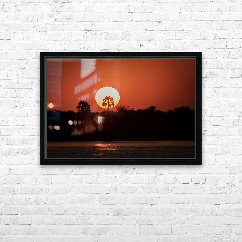 Sunset of Zimbabwe HD Sublimation Metal print with Decorating Float Frame (BOX)
