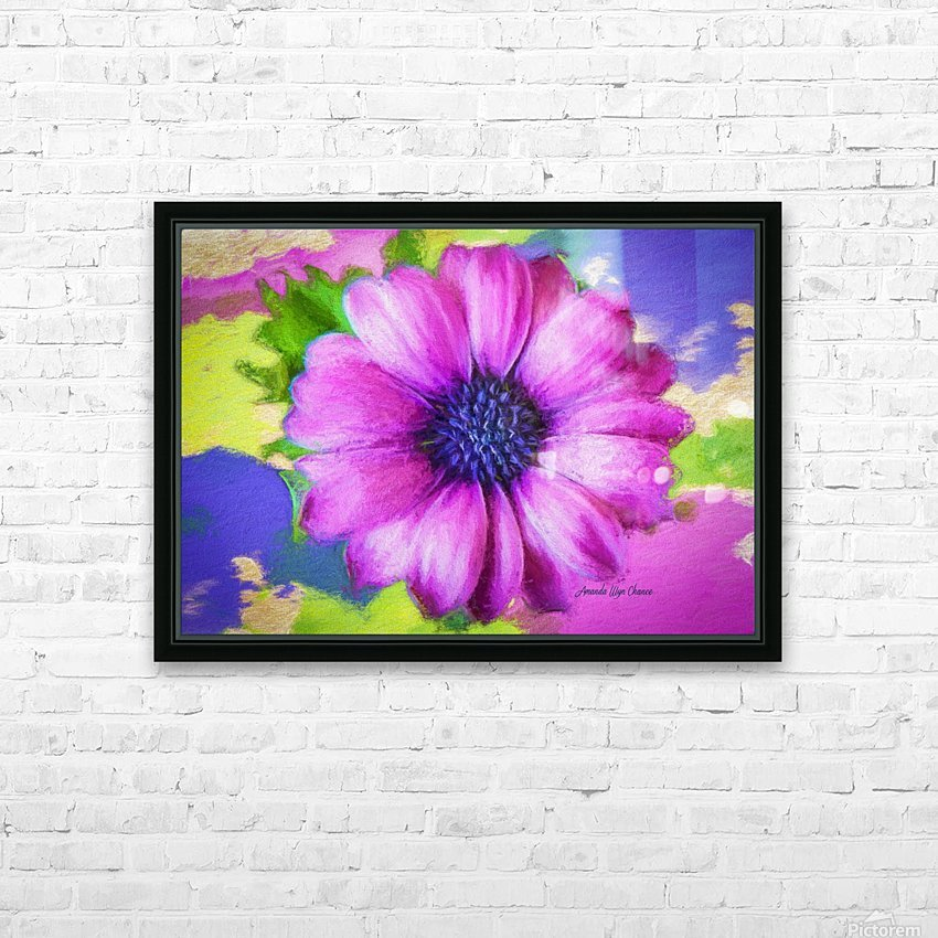 Purple Storm HD Sublimation Metal print with Decorating Float Frame (BOX)