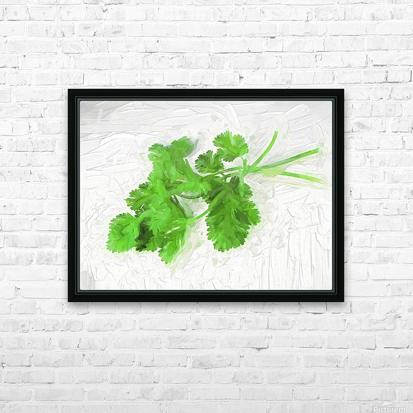 Cilantro HD Sublimation Metal print with Decorating Float Frame (BOX)