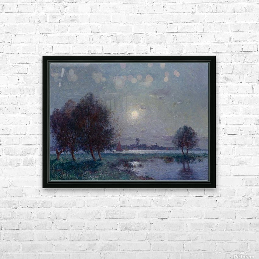 The Bank of Loire under Clear Moon HD Sublimation Metal print with Decorating Float Frame (BOX)