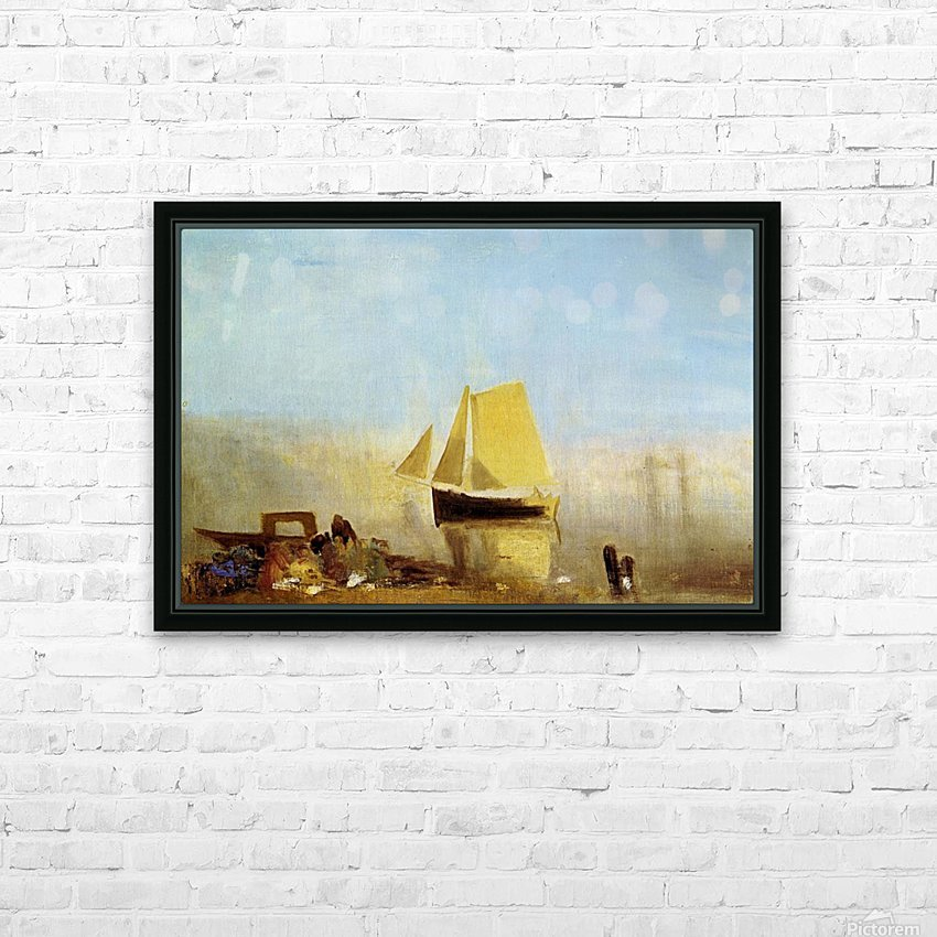 Fishing boat in a mist by Joseph Mallord Turner HD Sublimation Metal print with Decorating Float Frame (BOX)