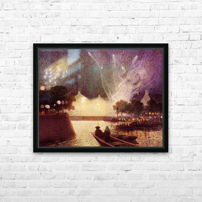 Clear Moon above the Baks of the Loire HD Sublimation Metal print with Decorating Float Frame (BOX)
