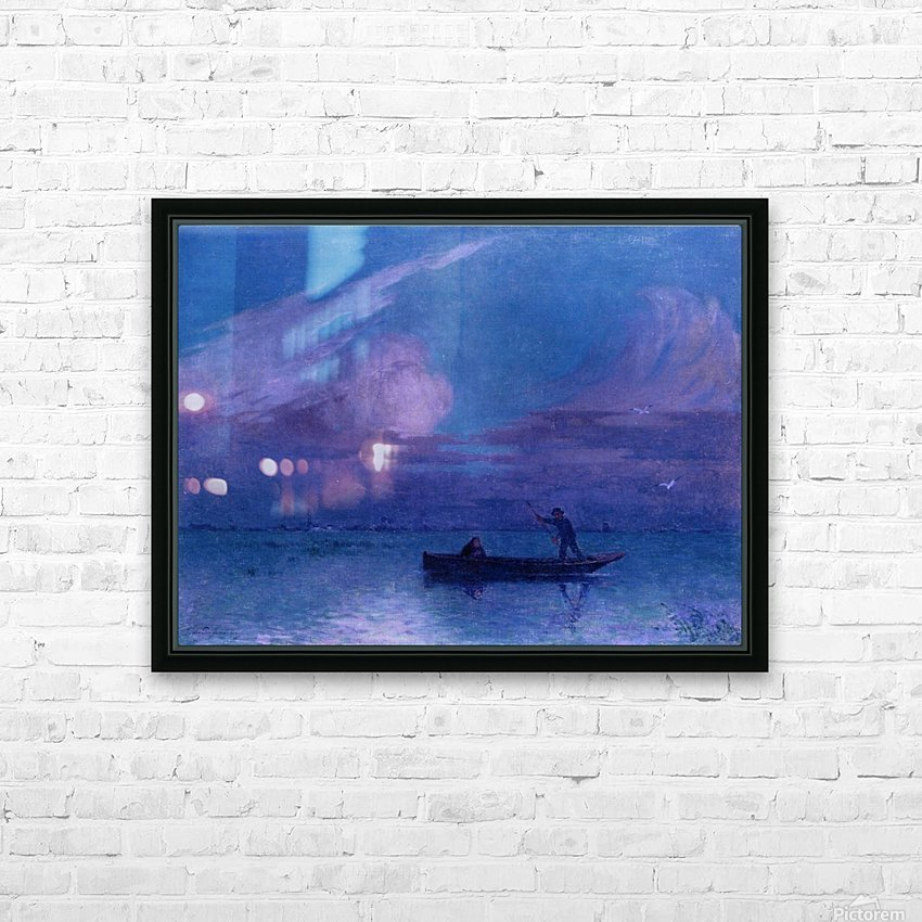 Landscape of the Sea Bank HD Sublimation Metal print with Decorating Float Frame (BOX)
