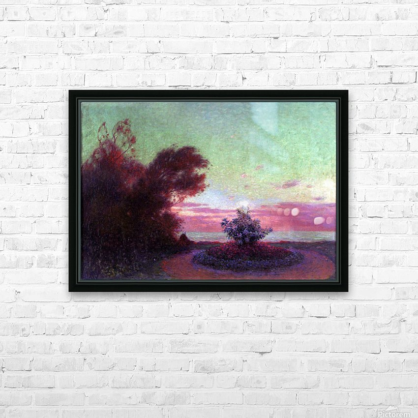 The Seashore at Twilight HD Sublimation Metal print with Decorating Float Frame (BOX)