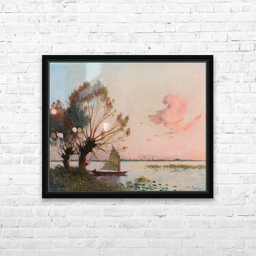 Sailer at Marais de la Grande Briere HD Sublimation Metal print with Decorating Float Frame (BOX)
