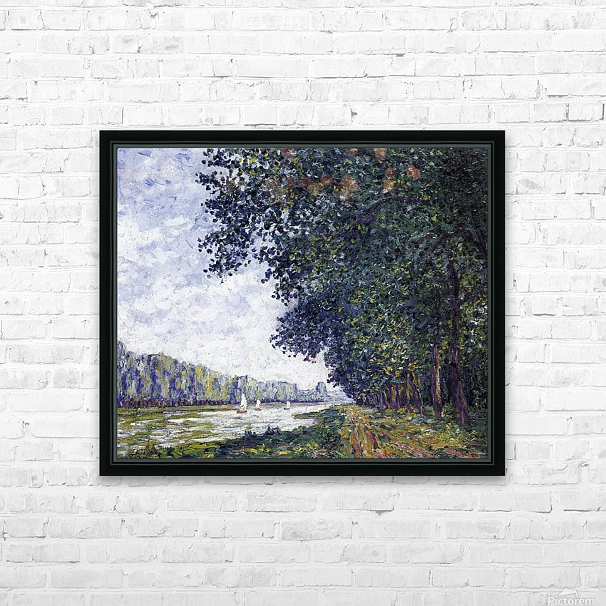 Canal of Moret, Winter Effect HD Sublimation Metal print with Decorating Float Frame (BOX)