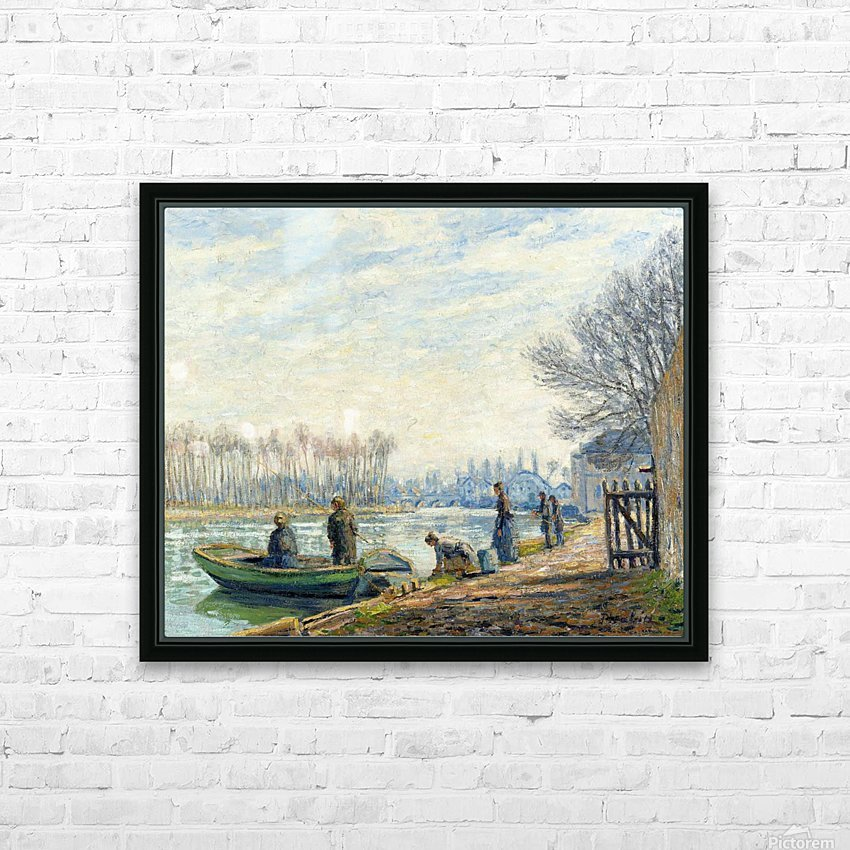 Fishermen at Moret-sur-Loing HD Sublimation Metal print with Decorating Float Frame (BOX)