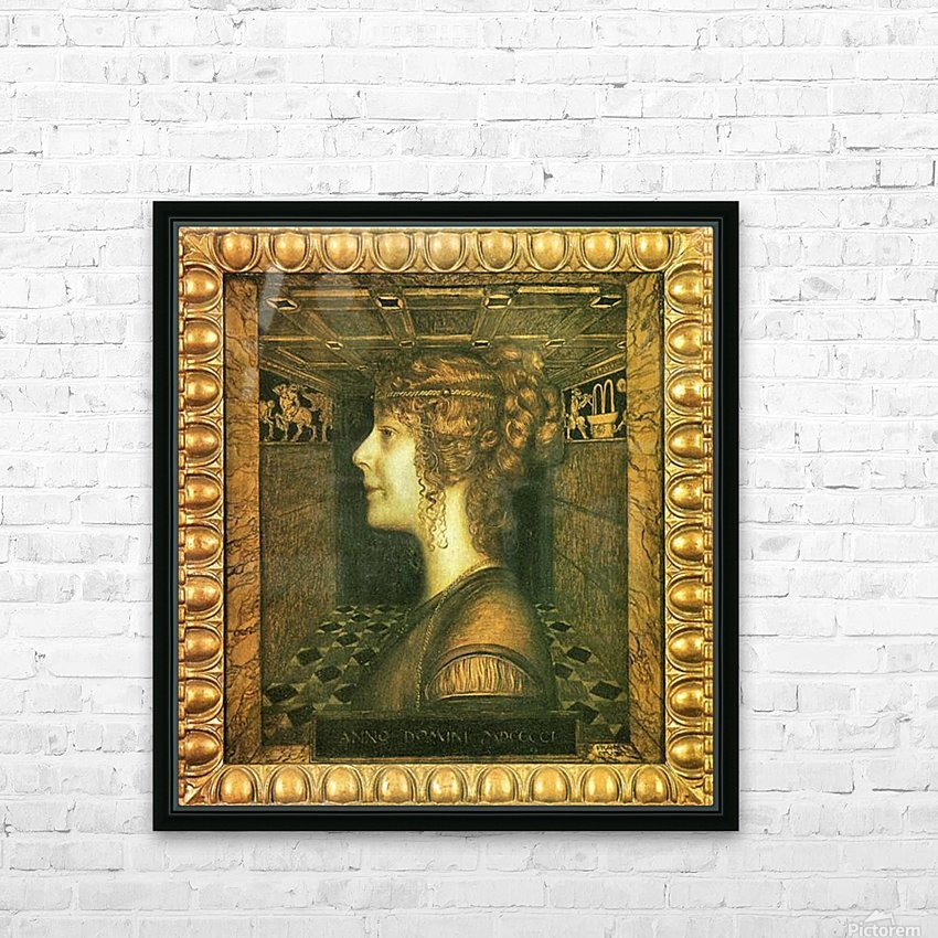 Florentine by Franz von Stuck HD Sublimation Metal print with Decorating Float Frame (BOX)