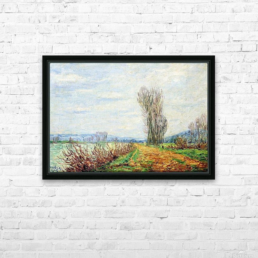 Morning Effect, Bank of the Yonne HD Sublimation Metal print with Decorating Float Frame (BOX)