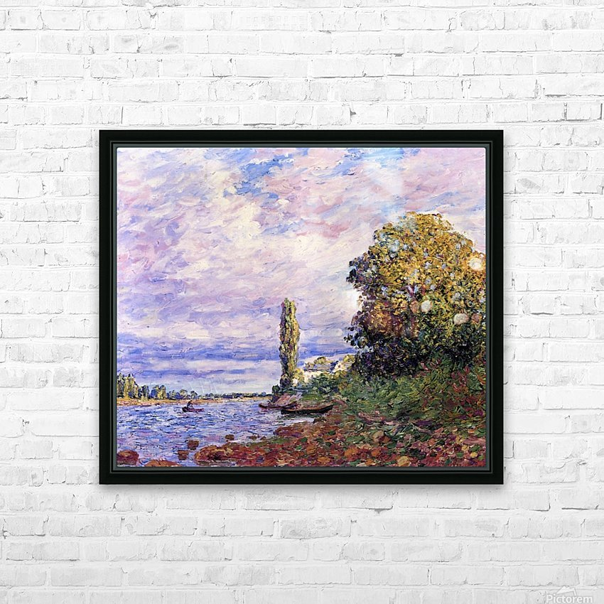Banks of the Loing HD Sublimation Metal print with Decorating Float Frame (BOX)