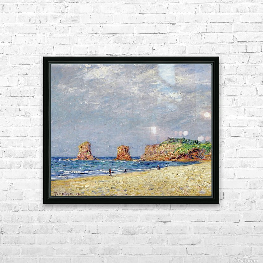 Twin Rocks at Hendaye HD Sublimation Metal print with Decorating Float Frame (BOX)