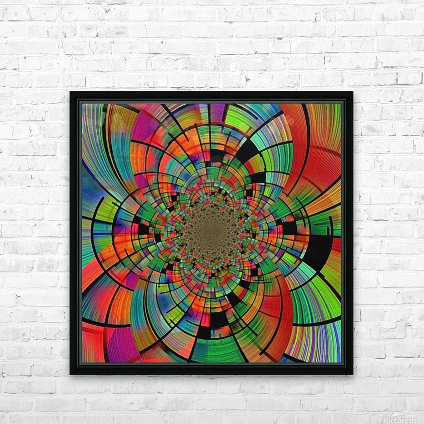 Colorful Geometric Fractal HD Sublimation Metal print with Decorating Float Frame (BOX)