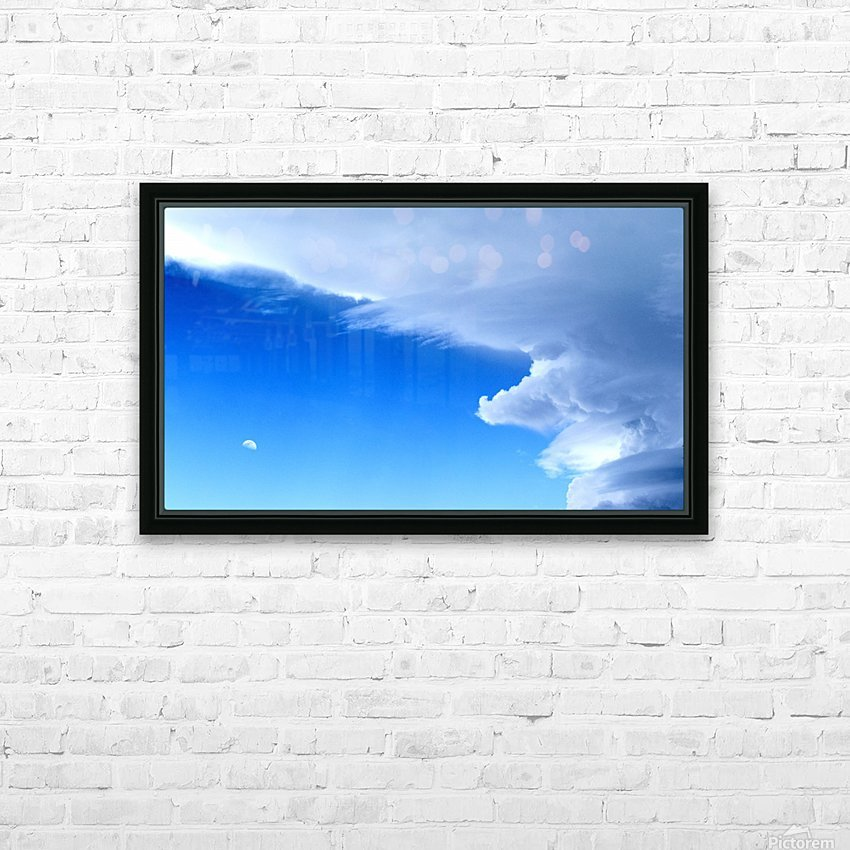 partly cloudy moon HD Sublimation Metal print with Decorating Float Frame (BOX)