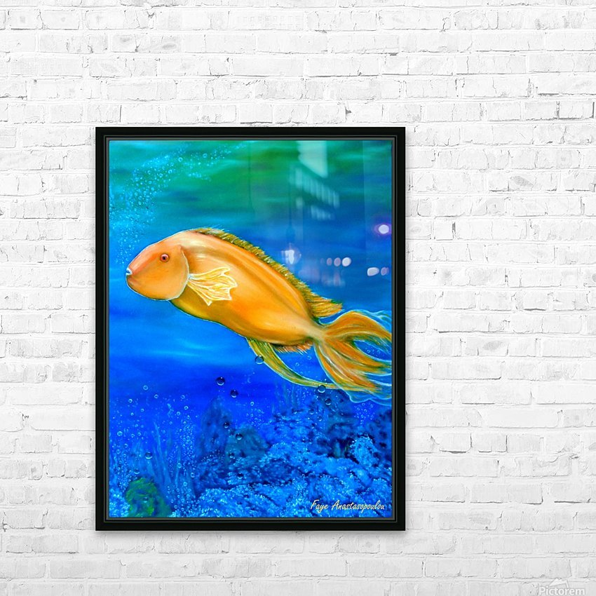 Undersea Journey HD Sublimation Metal print with Decorating Float Frame (BOX)
