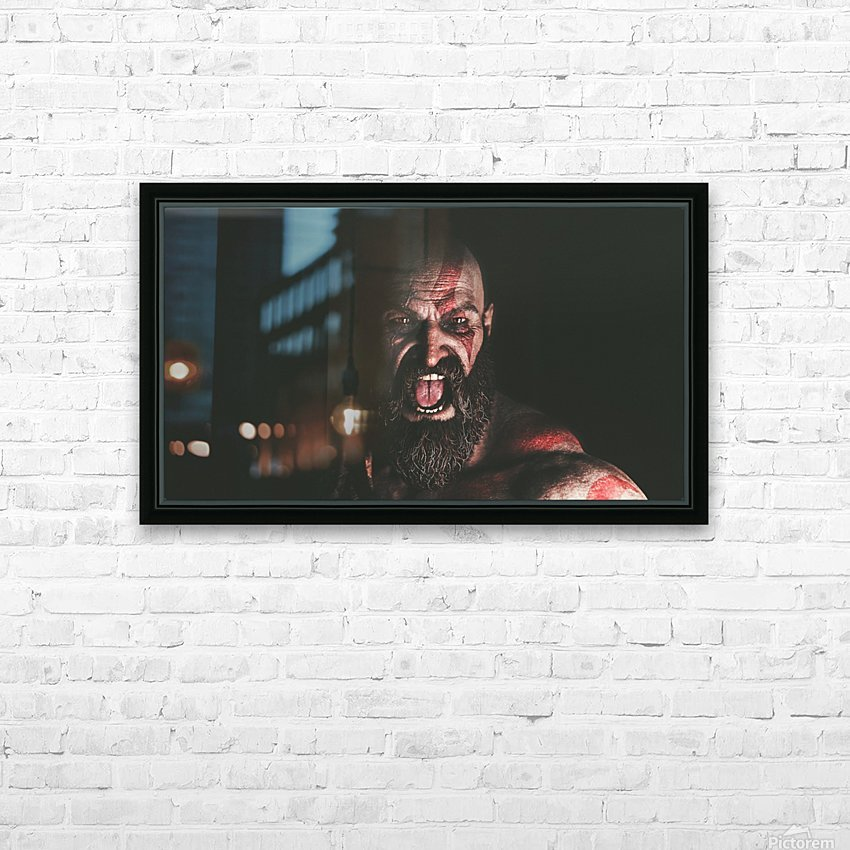Hidden Beneath | God of War HD Sublimation Metal print with Decorating Float Frame (BOX)