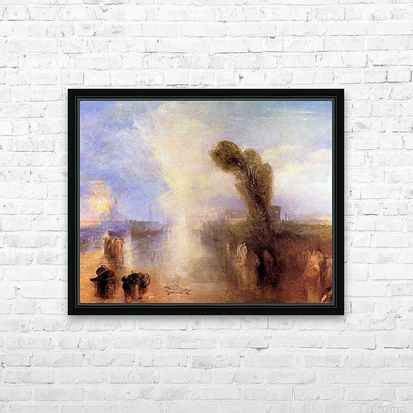 Girls bathing in moonlight by Joseph Mallord Turner HD Sublimation Metal print with Decorating Float Frame (BOX)