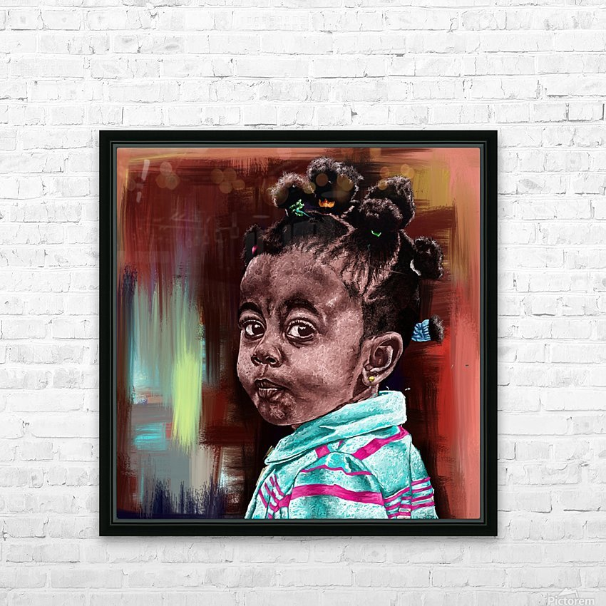 child  HD Sublimation Metal print with Decorating Float Frame (BOX)