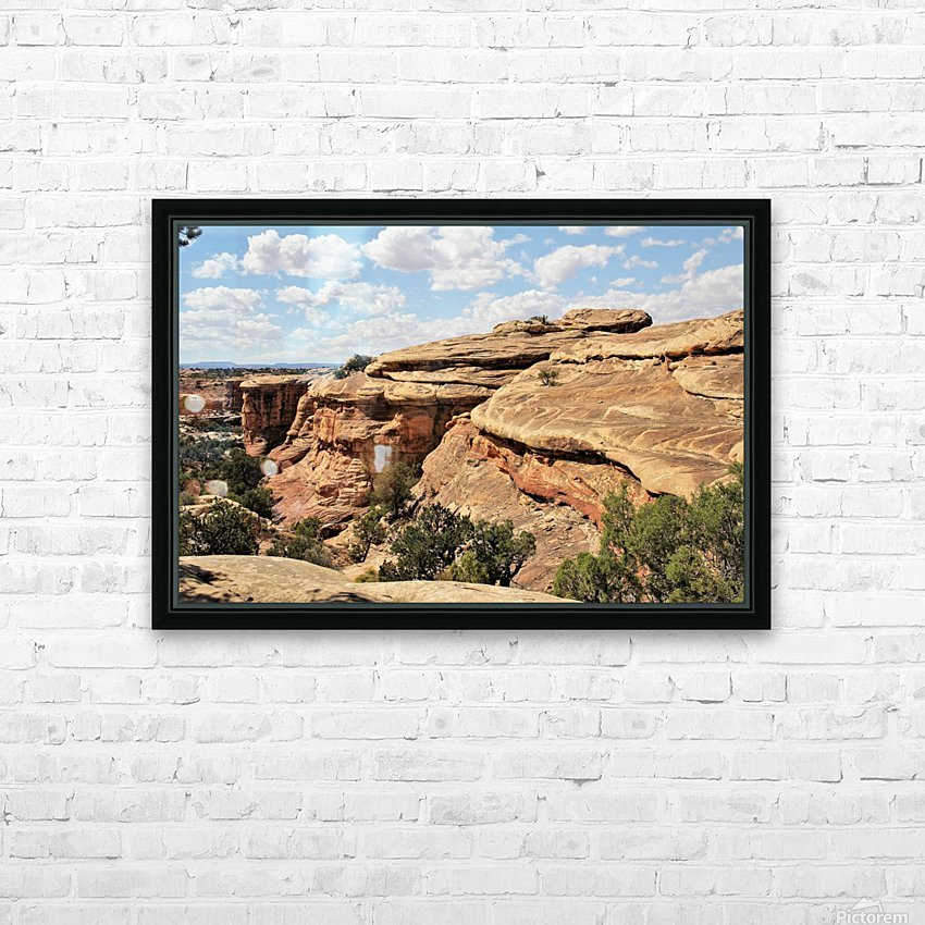 Canyonlands HD Sublimation Metal print with Decorating Float Frame (BOX)