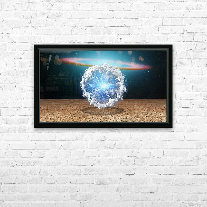 Life capsule HD Sublimation Metal print with Decorating Float Frame (BOX)