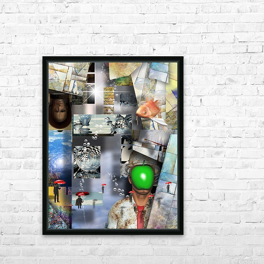 Abstraction HD Sublimation Metal print with Decorating Float Frame (BOX)
